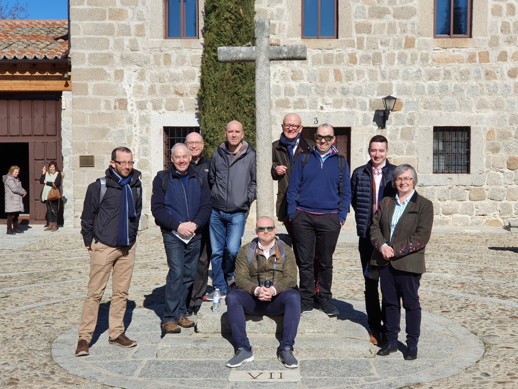The group outside the Incarnation monastery where St Teresa lived for most of her life.